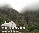 Weather in Ha Canyon